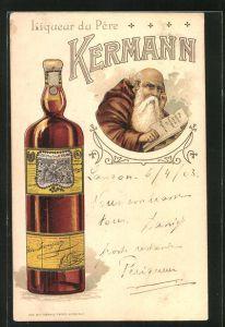 AK Reklame Liqueur du Pere Kermann