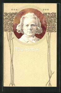 Präge-AK Portrait des Musikers Rubinstein