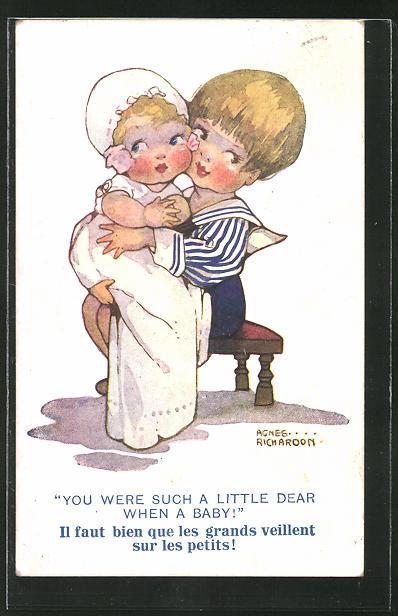 Künstler-AK Agnes Richardson: You wre such a Little Dear when a Baby!