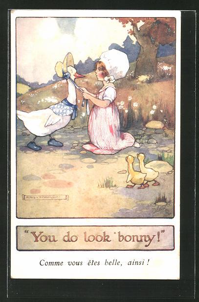 Künstler-AK Agnes Richardson: You do look bonny!