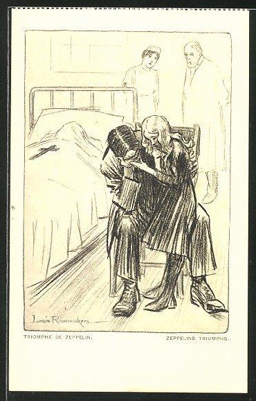 Künstler-AK Louis Raemaekers: Triomphe de Zeppelin