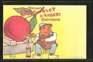 Künstler-AK Reklame für Guignolet d'Angers Cointreau