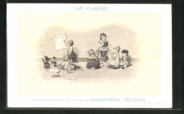 AK La Classe, Les Jeux D'Enfants, Edités par la Phosphatine Falliéres, Medikament