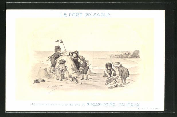 AK Le Fort de Sable, Les Jeux D'Enfants, Edités par la Phosphatine Falliéres, Medikament