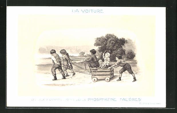 AK La Voiture, Les Jeux D'Enfants, Edités par la Phosphatine Falliéres, Medikament