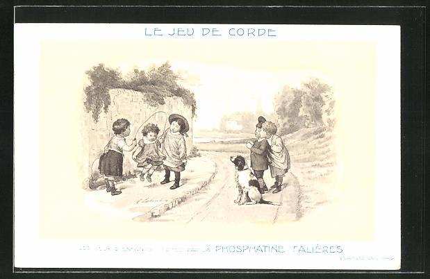 AK Le Jeu de Corde, Les Jeux D'Enfants, Edités par la Phosphatine Falliéres, Medikament