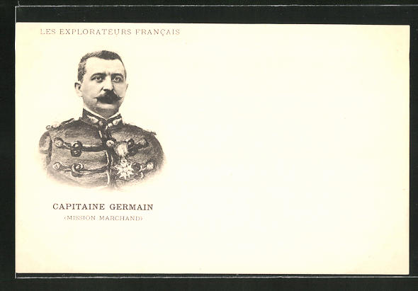 AK Les Explorateurs Francais, Capitaine Germain, Mission Marchand