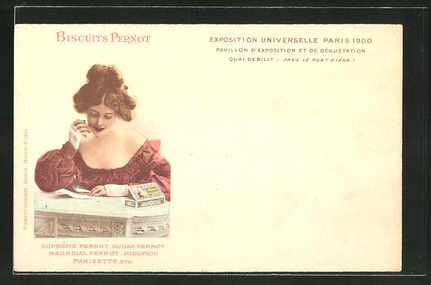 AK Paris, Exposition universelle de 1900, Biscuits Pernot, Kekse