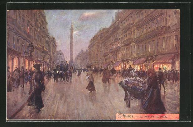 Künstler-AK Georges Stein: Paris, La Rue de la Paix