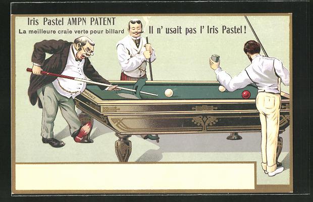 AK Drei Männer beim Billard-Spiel