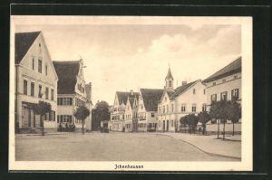 AK Ichenhausen, Strassenpartie mit Wohnhäusern und Geschäften