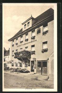 AK Wernberg / Opf., Gasthof zum schwarzen Bären von Josef Dotzler