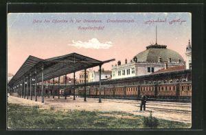 AK Constantinople, Hauptbahnhof, Gare des Chemins de fer Orientaux