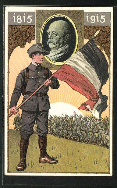 AK Zum 100. Geburtstag des Reichskanzlers Fürst Otto von Bismarck, Propaganda 1. Weltkrieg