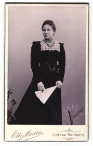 Fotografie Otto Martin, Dresden-Löbtau, Portrait junge bürgerliche Dame