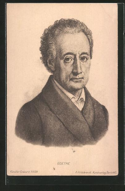 AK Portrait von Goethe