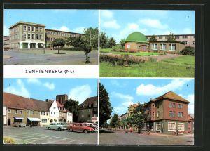 AK Senftenberg, Planetarium, Platz der Freundschaft & Bahnhofstrasse mit HOG