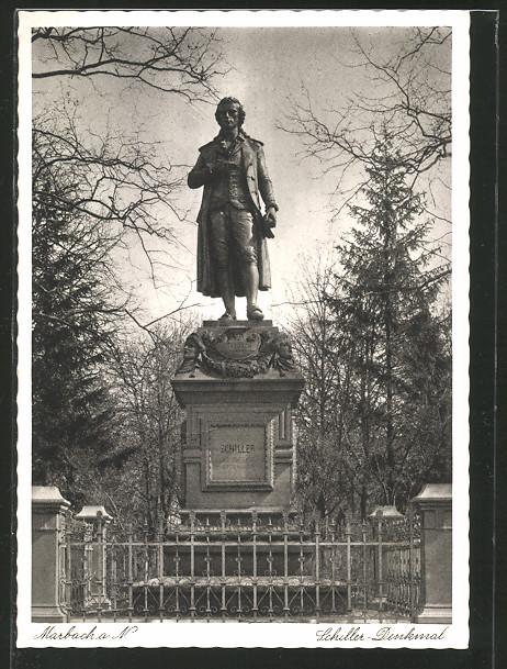 AK Marbach, Schiller-Denkmal