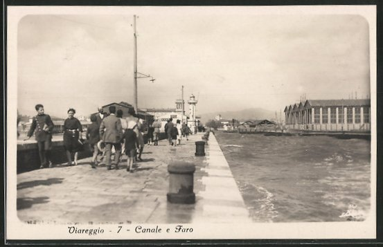AK Viareggio, Canale e Faro, Leuchtturm