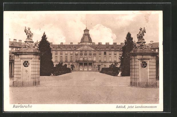 AK Karlsruhe, Schloss, jetzt Landesmuseum