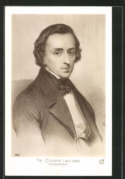 Künstler-AK Komponist Fr. Chopin