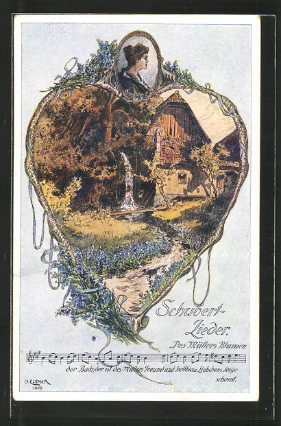 AK Schubert-Lieder, Des Müllers Blumen, Wassermühle