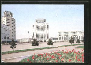 AK Alma - Ata, Neubauten am Neuen Platz
