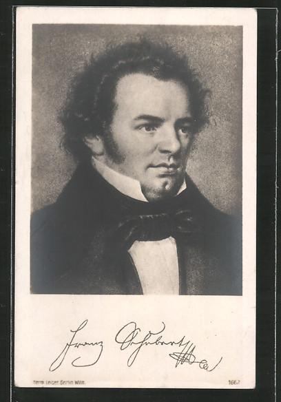 Künstler-AK Bildnis des Komponisten Franz Schubert