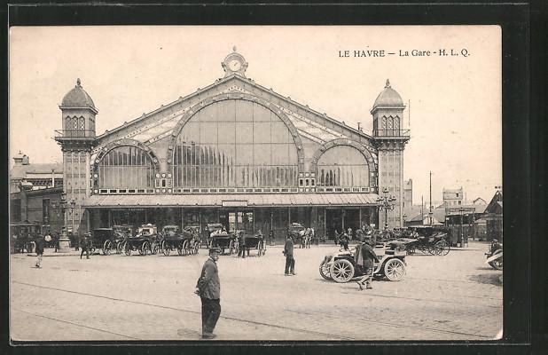 AK Le Havre, Bahnhof, la Gare H. L. Q.