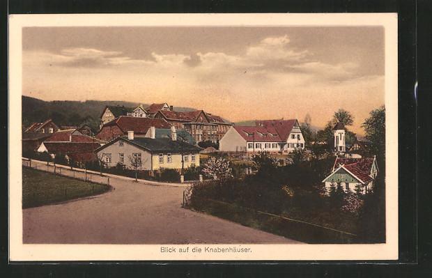 AK Bad Oeynhausen, Anstalt Wittekindshof, Blick auf die Knabenhäuser