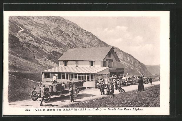 AK Aravis, Autobusse am Chalet-Hôtel