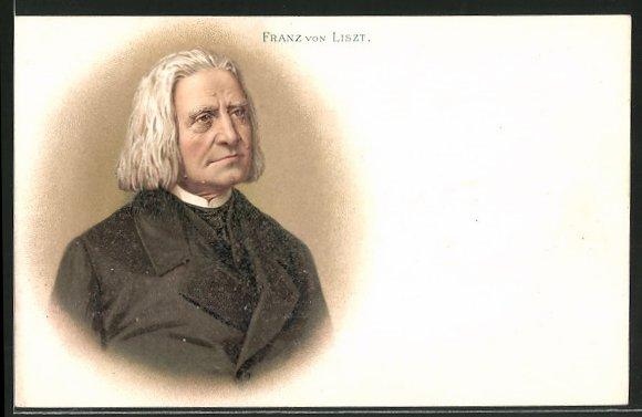 Lithographie Franz Liszt, Portrait des Komponisten