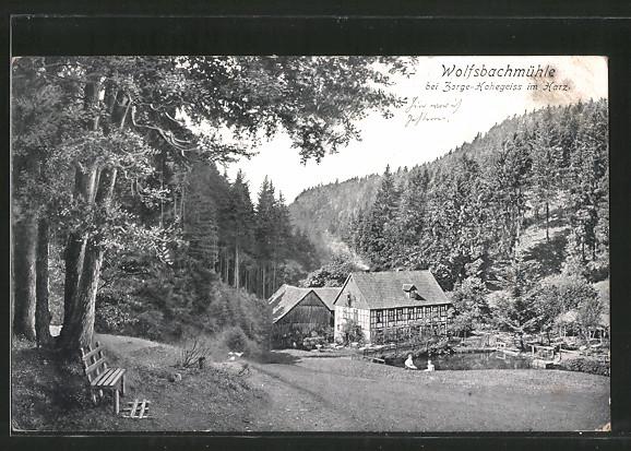 AK Hohegeiss, Gasthaus Wolfsbachmühle