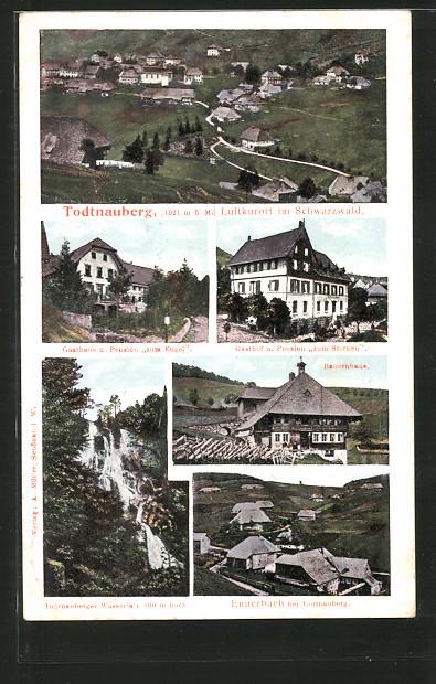 AK Todtnauberg, Gasthaus & Pension Zum Engel, Gasthaus & Pension Zum Sternen, Bauernhaus