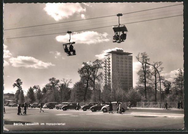 AK Berlin, Sessellift im Hansaviertel