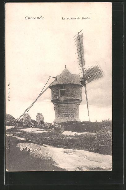 AK Guérande, Le Moulin du Diable, Windmühle