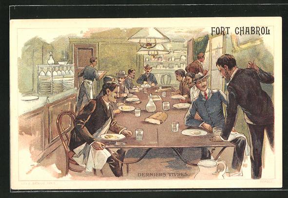 AK Paris, Fort Chaberol, Dernier Vivres, Belagerung von Fort Chabrol 1899, Antisemit Jules Guerin