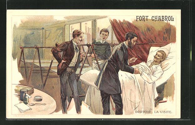 AK Paris, Fort Chaberol, Dortoir - la Visite, Belagerung von Fort Chabrol 1899, Antisemit Jules Guerin