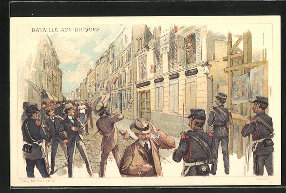 AK Paris, Fort Chaberol, Batailles aux Briques, Belagerung von Fort Chabrol 1899, Antisemit Jules Guerin