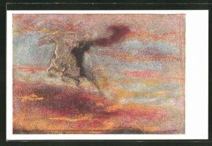 Künstler-AK Albert Welti: Der Reiter der Höhe