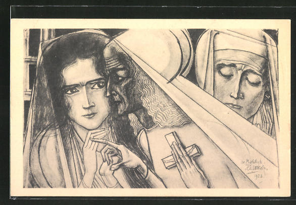 Künstler-AK Jan Toorop: De profetesse