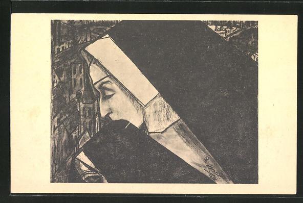 Künstler-AK Jan Toorop: De Non, Die Nonne