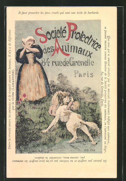 Künstler-AK Paris, Société Protectrice des Animaux, 84 Rue de Grenelle, Hund hat ein Kind vorm Ertrinken gerettet
