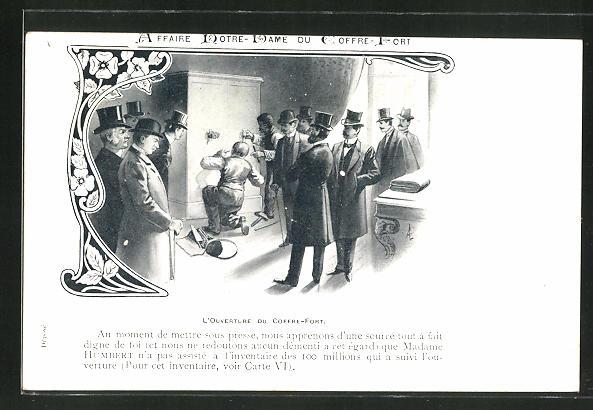 AK Affaire Humbert, L'Ouverture du Coffre-Fort
