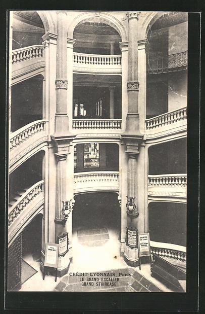AK Paris, Crédit Lyonnais, Le Crand Escalier, Grand Staircase