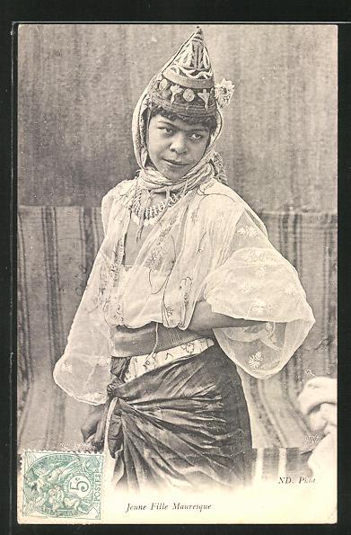 AK Jeune Fille Mauresque, arabische Volkstypen