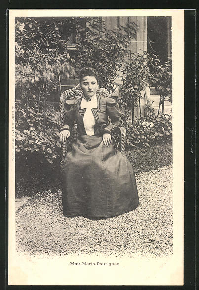 AK Madame Maria Daurignac, Affaire Humbert