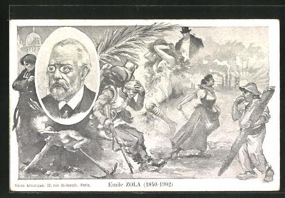 AK Emile Zola, 1840-1902