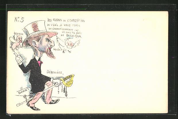 Künstler-AK sign. Les Norwin's: Les Clous de l'Exposition, Déroulège