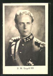 AK König Léopold III. von Belgien in Uniform